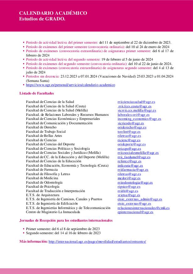 Vicerrectorado de Internacionalización > Hoja Informativa para ...